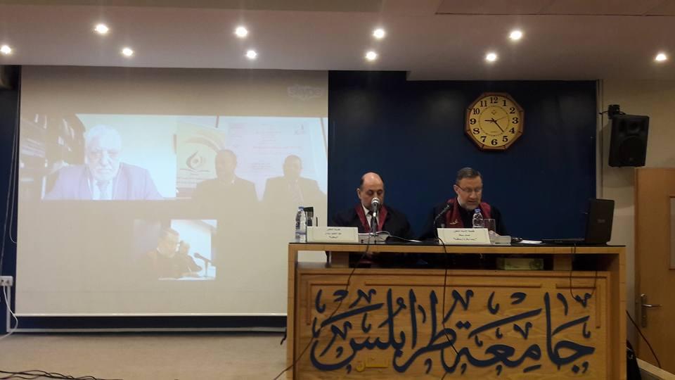 جلسة مناقشة أطروحة الباحث محمود أحمد الشحادات (1/2)