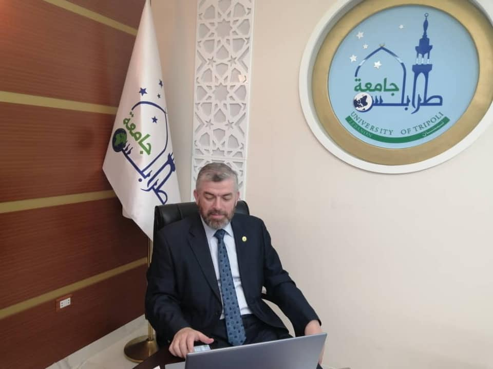 رئيس جامعة طرابلس لبنان محاضرا في دار العلم والعلماء (1/3)