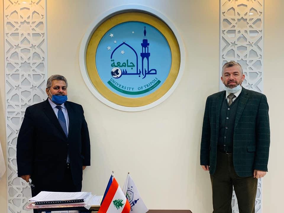 المستشار الأول في السفارة الفلسطينية في بيروت زائرًا جامعة طرابلس : هذا الصرح مفخرة عربية وإسلامية (2/6)