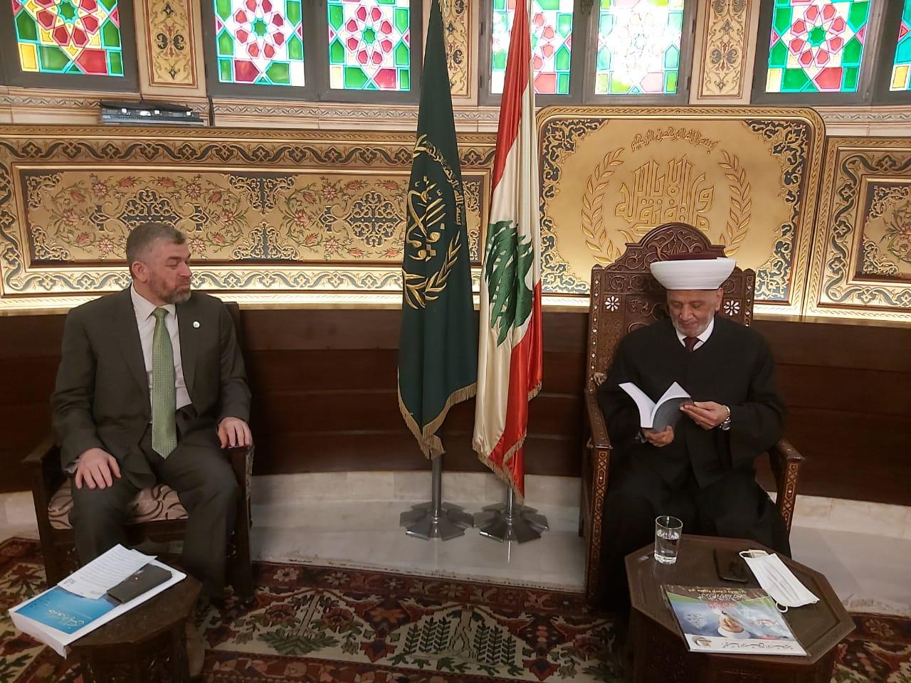 وفد جامعة طرابلس في زيارة مفتي الجمهورية اللبنانية  (3/5)