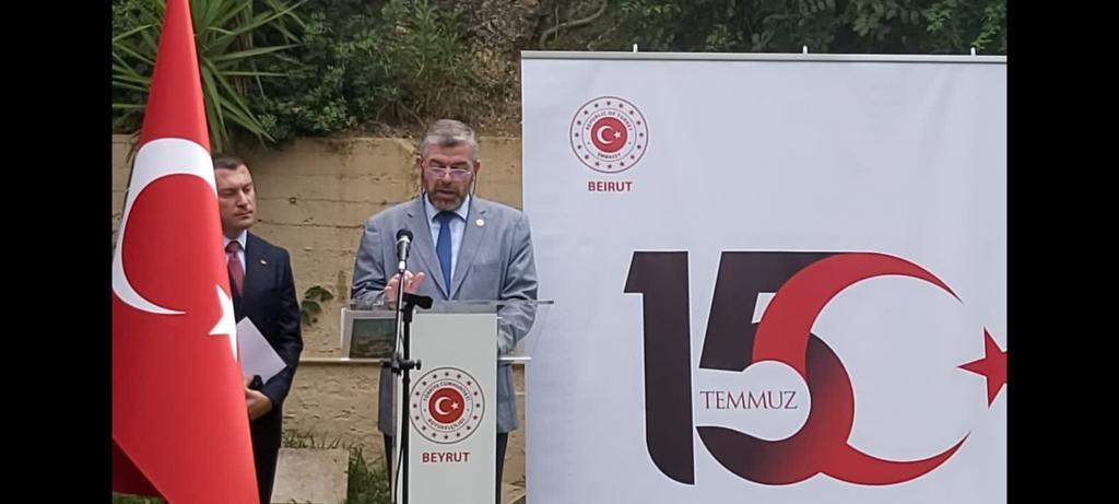 رئيس جامعة طرابلس مشاركا في حفل السفارة التركية (6/6)