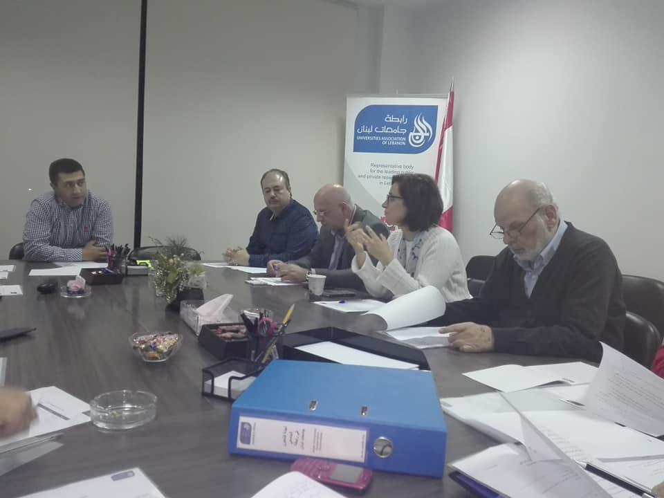 مشاركة عميد كلية الآداب في جامعة طرابلس أ.د. محمد درنيقة في اجتماع لجنة التعاون الجامعي في رابطة جامعات لبنان (3/3)