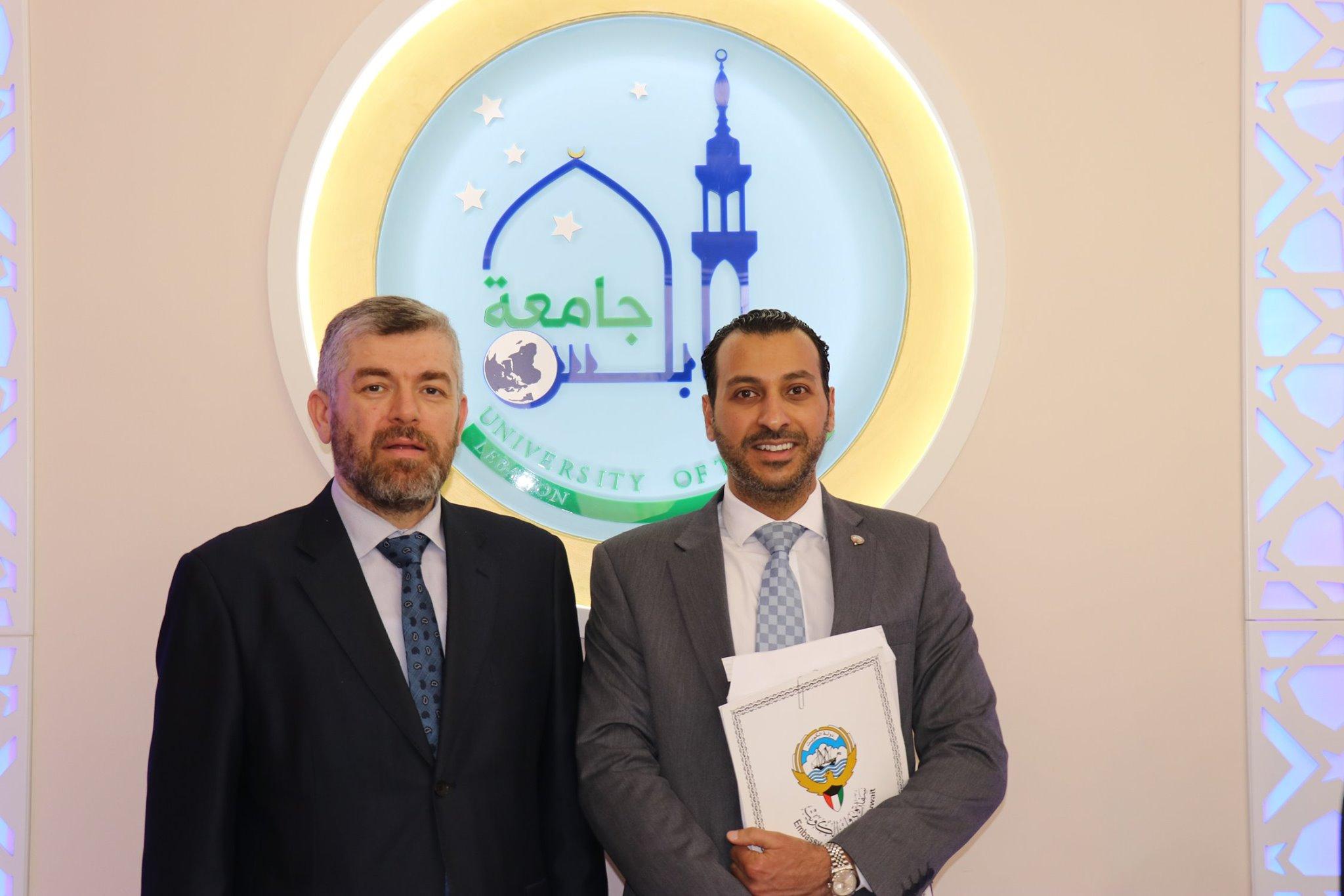 السكرتير الأول في السفارة الكويتية في بيروت يزور مجمع الإصلاح الإسلامي في طرابلس (1/5)