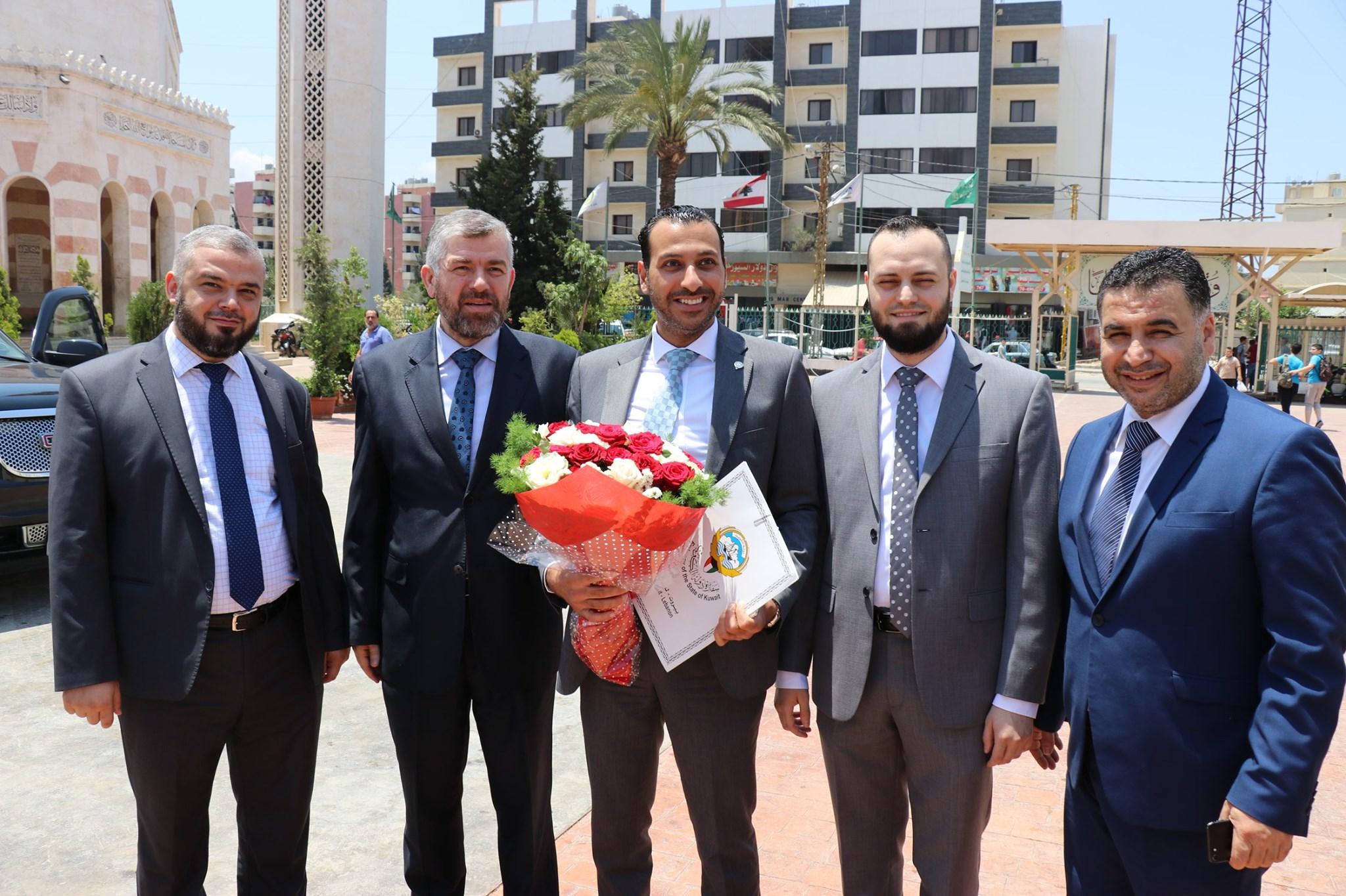 السكرتير الأول في السفارة الكويتية في بيروت يزور مجمع الإصلاح الإسلامي في طرابلس (5/5)