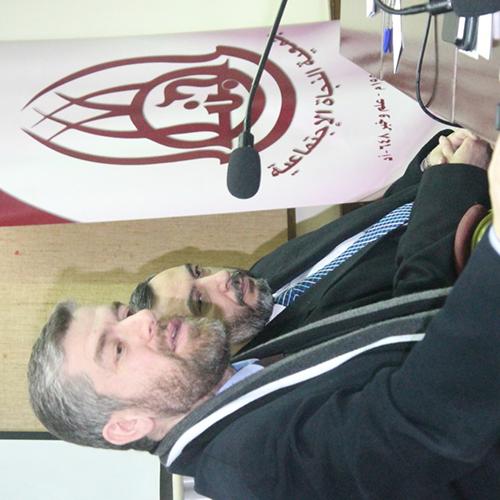 نائب رئيس جامعة طرابلس محاضراً في بيروت حول الزواج المدني. (1/2)